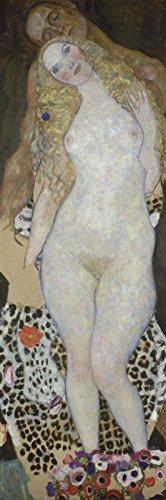 Fantasy-körper-Öl (Artland Poster oder Leinwand-Bild fertig aufgespannt auf Keilrahmen mit Motiv Gustav Klimt Adam und Eva (unvollendet). 1917/18 Fantasy & Mythologie Religion Christentum Malerei Schwarz C1JP)