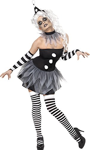 Böse Zirkusdirektor Kostüm - Smiffy's 34226L Böser-Pierrot-Kostüm, L,