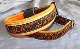 Hunde Halsband BlaBla dunkelbraun orange
