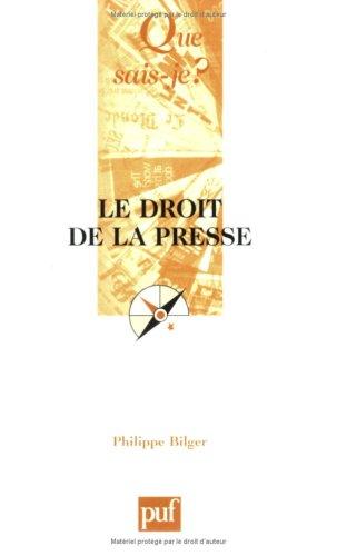 Le Droit de la presse