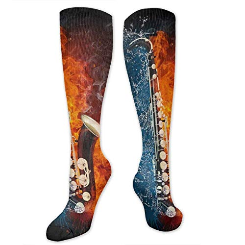 Water and Fire Saxophone.jpg Compression Socken for Women and Men - Best Medical,for Running, Athletic, Varicose Veins, Travel.