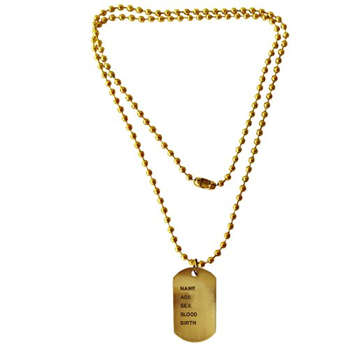 Menjewell Classic Collection Bronze Army Style Name Dog Tags Pendant For Men & Boys  available at amazon for Rs.249