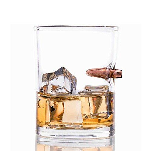 KOBWA Whiskey Bullet Glas, Bulletproof Whisky Glas für Whiskey, Bourbon Vodka Bar Wein - Durable Mundgeblasenes Glas - Hält 8,5/13,6 Unzen