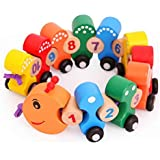 Shy Shy- Wooden Number/Colorful Digital Caterpillar Train, Blocks Set Toys For Kids And Toddlers, Best Educational Set Of Trains With Fun And Colorful 1-10 Number Figures Train Model Toys For Boys & Girls