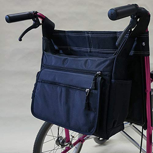 WHIHO Multifunktions-Rollstuhltasche - Universeller Rucksack gepolstert hinten Multi - Tasche - Rollstuhl-Aufbewahrungstasche für lose Gegenstände und Zubehör