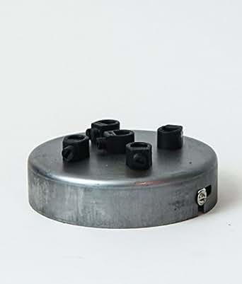 ROSACE DE PLAFOND MULTITROUS | 5 trous | acier brut