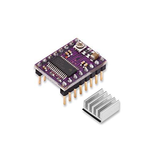qobobo® DRV8825 Pilote de Moteur Pas à Pas avec Radiateur. Pour RAMPS 1.4, bouclier CNC, imprimante 3D, Prusa Mendel