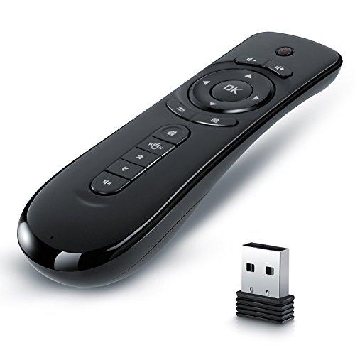 CSL Presenter / Wireless Air Mouse / Powerpoint Fernbedienung inkl. 2,4 Ghz USB Empfänger || für Desktop-PC, Notebook, Ultrabook, Set-Top-Box, Android TV-Box, Media-Player