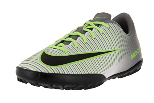 Nike Jungen Jr Mercurialx Vapor Xi Tf Fußballschuhe Plateado (Pure Platinum / Black-Ghost Green)