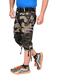 Krystle Boy's Cotton Army 3/4th Shorts| Capri