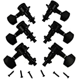 IKN 3L3R Black Metal Auto Lock Electric Acoustic Guitar Tuning Pegs Machine Heads