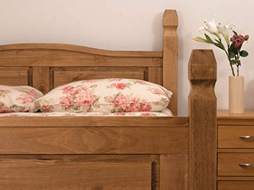 Snuggle Beds Corona - Antique Pine 4FT6 Double Wooden Bed