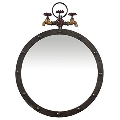 A Mirror Espejo Industrial Redondo del Hierro Labrado del Grifo del Espejo del Viento del Espejo Redondo...
