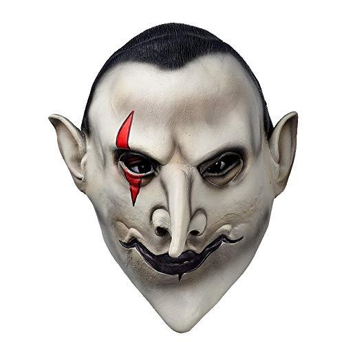 Teufel Latex-Maske Scary Earl of Hell Gesicht Vampir Blutsauger Halloween-Maskerade Mascara Terror Cosplay-Kostüm-Schablonen-Partei Props (Mascaras Terror De Halloween De)