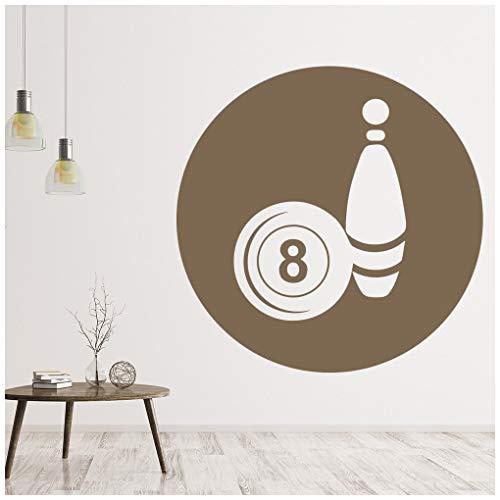 azutura Bowlingkugel Wandtattoo 8 Ball Wand Sticker Sport Wohnkultur verfügbar in 5 Größen und 25 Farben Extraklein Licht Orange