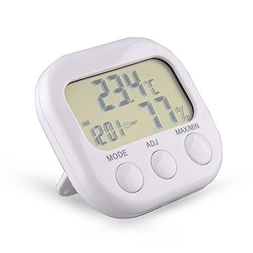 Tikitaka ta638digitale LCD Termometro Igrometro Temperatura Umidità Meter Gauge con orologio stazione meteo