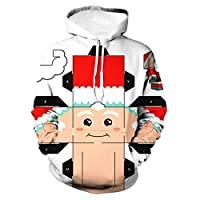 ZEELIY Men Xmas Jacket Sale Clothing Ugly Christmas Casual 3D Print Santa Sportswear Long Sleeve Coat
