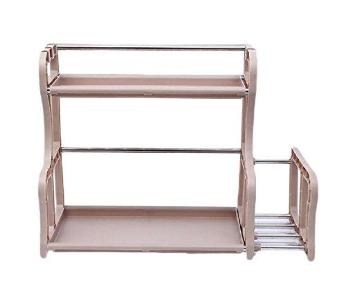 ANDYOU-Home Regal Espresso Organizer System mehrzweckschrank festes Turn-n-Rohr 4-tier-4-shelf stapelbare bücherregal 2 Shelves AS1 -