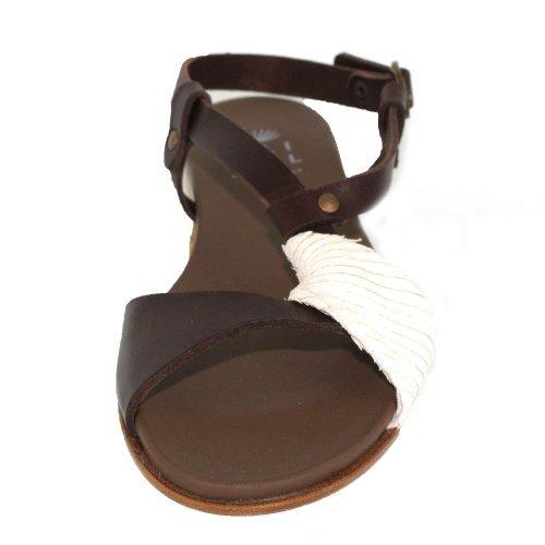 Lilimill 5581dilt Latte Sandali Donna E Muli In Marrone Medio