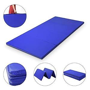 COSTWAY Weichbodenmatte 240x120x5cm   Gymnastikmatte klappbar   Yogamatte...