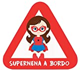 Haberdashery Online Pegatina Adhesiva Bebé a Bordo. Adhesivo vinilo para coche o moto. 16 x 14'5 cm. (35. Supernena Spiderman)