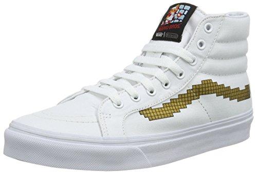 Vans Unisex-Erwachsene SK8-Hi Slim High-Top, Weiß ((Nintendo) Console/Gold), 41 EU
