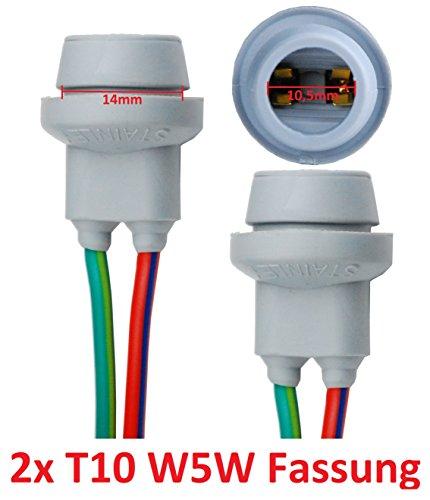 L & P B578 2 x T10 W5 W CULOT Lampes Douille Culot de lampe en caoutchouc Base en verre en caoutchouc pour W2,1 x 9,5d Ampoule Ampoules Lampes