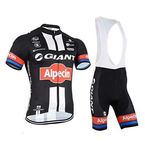 logas Männer Fahrrad-Club Cycling Team Bekleidung Jersey Shirts Kurze Hosen Set Sportbekleidung - Team Bekleidung Trikot Hat