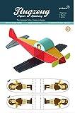 Forum Traiani Bastelbogen Flugzeug - Pukcaka DIY Bastelbögen Papier-Karton für Kindergeburtstag als Geschenkidee, Bastelidee für Jungs
