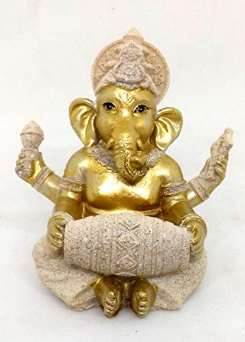 Ethnic Karigari Car Dashboard Decor Beautiful Vighnaharta Lord Ganesh Idol for Home Entrance Hand Carved Ganpati Bappa Ganesha  Vinayagar Statue Playing Musical Instruments Idol for Gift 41ypKy2rm3L
