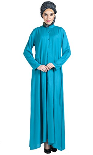 East Essence - Robe - Solid - Femme Bleu - Turquoise