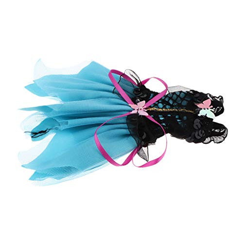 enkleidung Prinzessin Kleid Partykleid Outfits Für 12 Zoll Mädchen Puppe Dress-up-Zubehör - D ()
