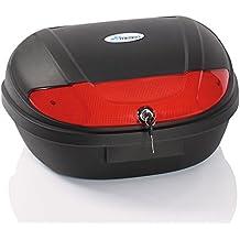 TRESKO® Universal Baúl de moto XXL maleta para dos cascos, capacidad de 48 litros