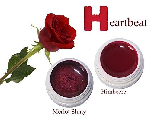 Set'Heartbeat', UV-Farbgel 2x5ml + GRATIS Nail Display Herz