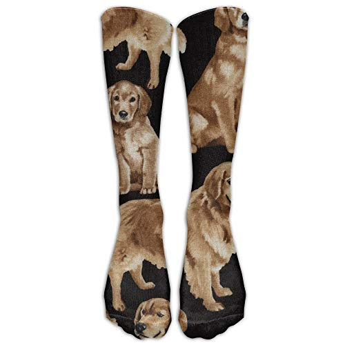 CVDFVFGB Golden Retrievers Knee High Graduated Compression Socks for Women and Men - Best Medical, Nursing, Travel & Flight Socks - Running & Fitness -