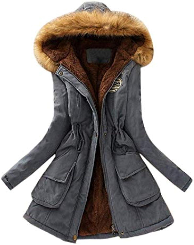 Donna Parka Inverno Eleganti Taglie in Forti Caldo Cappotto con Cappuccio  in Taglie Pelliccia Lunghe Abbigliamento Transizione... 0db8c7 0df2aea8a082