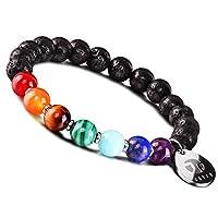 JOXFA ha creato il braccialetto dei chakra per bilanciare le sette energie che sono chiamate collettivamente chakra. lavorano spostando la propria concentrazione mentale dal pensiero emotivo negativo a una visione più prospera e positiva dell...