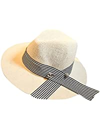 Menschwear mujer Summer Hats Woven Wide Brim Hats Summer Beach Hat Bowler Hats