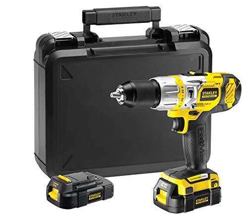 STANLEY FMC520LB-QW - Taladro percutor 14,4V y 1,5Ah. 2 baterías y cargador 30 mins. 2 velocidades...
