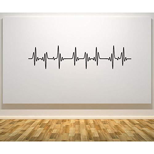 Yzybz Herzschlag Herzfrequenz Puls Ekg Ekg - Wall Door Art Aufkleber Aufkleber Bild Poster