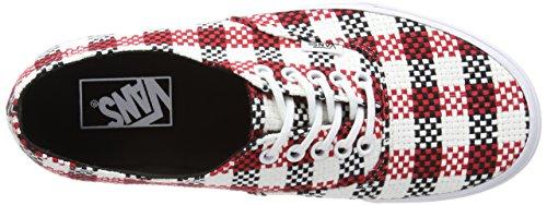 Vans  Authentic Decon, Baskets mode pour homme Noir - Black (Checker Plaid - Black/True White)