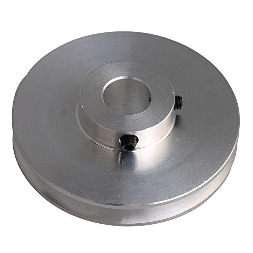 Yibuy Silber Aluminium Groove Riemenscheibe 58x 12mm für Motor Shalf 3-5mm Rund Gürtel -