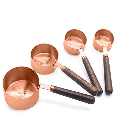 Gabriera Juego 4 vasos medidores cocina acero inoxidable