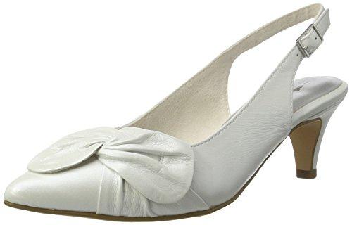 Tamaris Damen 29612 Slingback, Weiß (White 100), 38 EU