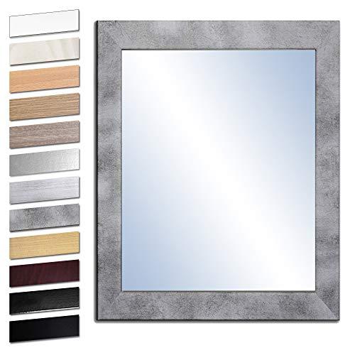 Bilderdepot24 Wandspiegel Spiegel Badspiegel Holzrahmen komplett mit Echtglas - Beton - ca. 50x40 cm