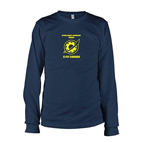 TEXLAB - El Psy Congroo - Langarm T-Shirt Dunkelblau