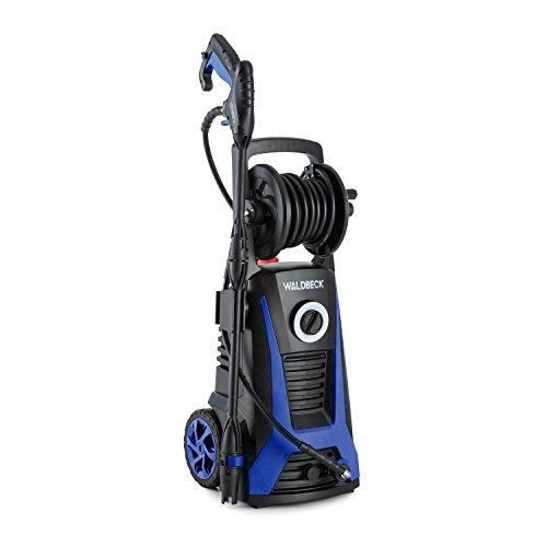 Preisvergleich Produktbild Waldbeck Saubermann • Hochdruckreiniger • Kombigerät • Terassenreiniger • 2200 W • 165 bar Höchstdruck • Shampoobehälter • inkl. Sprühlanze, Wasserleitungsanschluss, Hochdruckschlauch • schwarz-blau