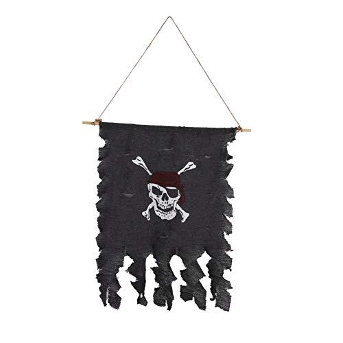 Blaward Halloween Piraten Flagge Banner Skull Kreuz Totenkopf Säbel Schwerter Piratenflagge Halloween-Kostüme für Pirat Thema Party, Bar, Interieur, Garten Dekorationen