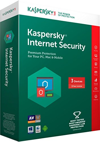 Kaspersky Internet Security Latest version - 3 PCs, 3 Years