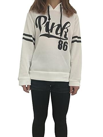 hqclothingbox Womens Teens Chic Drawstring Long Sleeve Hooded Sweatshirt